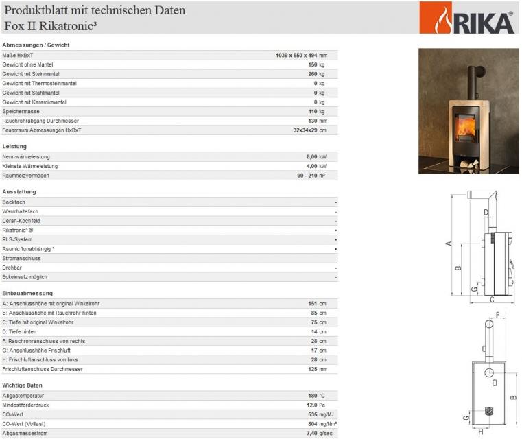 rika fox ii rikatronic3 speckstein korpus metallic z ls. Black Bedroom Furniture Sets. Home Design Ideas